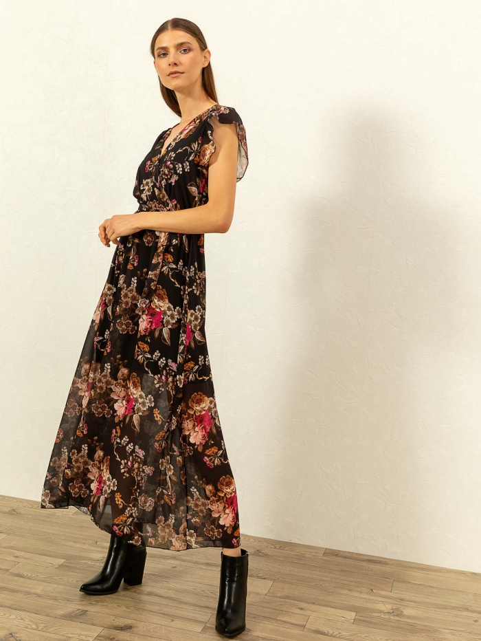 Maxi φλοράλ φόρεμα