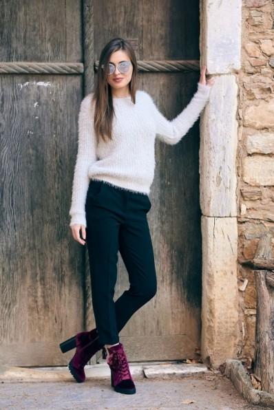 Furry sweater chic